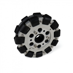 EasyMech 127mm Double Aluminium Omni Wheel (BEARING TYPE ROLLER)