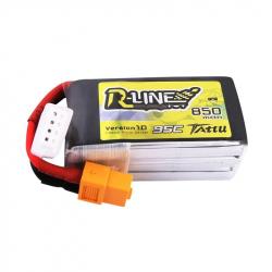 Tattu R-Line 850mAh 3S1P 95C 11.1V Lipo Battery Pack with XT60 Plug