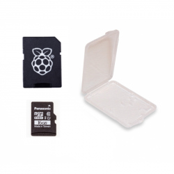Card MicroSD Original de 16 GB cu NOOBs și Carcasă, Compatibil cu Raspberry Pi 4 Model B