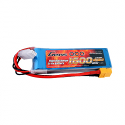 Gens ace 1600mAh 7.4V 40C 2S1P Lipo Battery Pack with XT60 plug