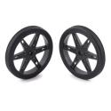 Pololu Wheel for Micro Servo Splines (20T, 4.8mm) - 60×8mm, Black, 2-Pack