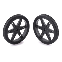 Pololu Wheel for Standard Servo Splines (25T, 5.8mm)  - 90×10mm, Black, 2-Pack
