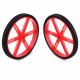 Pololu Wheel for Micro Servo Splines (20T, 4.8mm)  - 60×8mm, Red, 2-Pack
