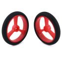 Pololu Wheel for Micro Servo Splines (20T, 4.8mm) - 40×7mm, Red, 2-Pack