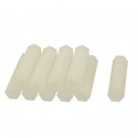 M2 White Plastic Hexagonal Pillar (6 mm)