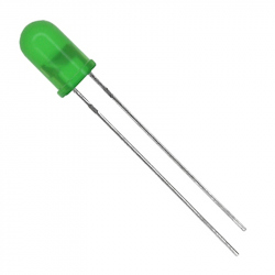 LED Verde de 3 mm cu Lentile Difuze