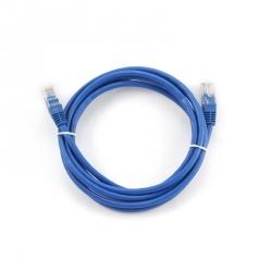 Cablu UTP CAT 5E cu mufe 3 m  rotund, albastru