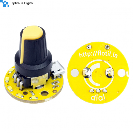 Flotilla Dial Module with Potentiometer and 5 LEDs