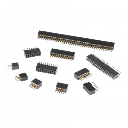 2 x 3p 1.27 mm Female Pin Header