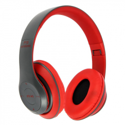 Red Headphones Radio/MP3/TF/mic compatibile cu Bluetooth P15