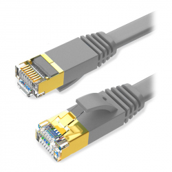 Flat CAT7 STP Patch Cable 15 m Gray