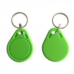 Green Keyring with 13.56MHz RFID Tag