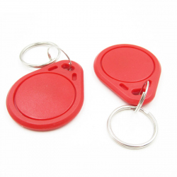 Red Keyring  with RFID 13.56MHz Tag