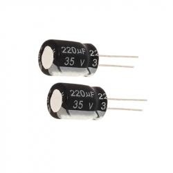 Electrolytic Capacitor 220 uF, 35 V
