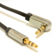 Right angle 3.5 mm stereo audio cable, 1 m
