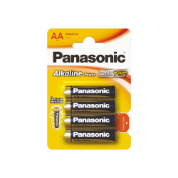 Set of 4 Panasonic LR6 / AA Alkaline Batteries