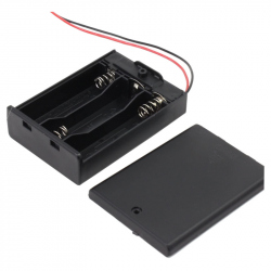 Battery Case with Cover (3 x R6)