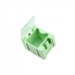 Green Storage Box for Electronic Components 25x31.5x21.5 mm
