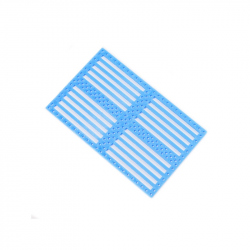 Drilled Plastic Panel - Blue