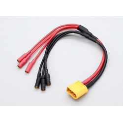 Cablu Alimentare cu Conector XT60 la 3 x 3.5 mm Bullet