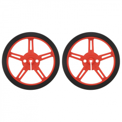 Wheel 60×8mm Pair - Red