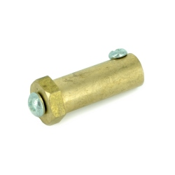 Long Hexagonal Motor Coupling Hub (4 mm) gold