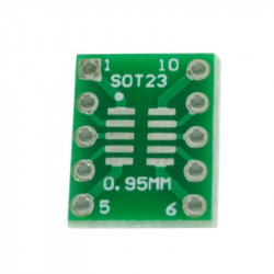 SOT23, MSOP10 and umax to DIP PCB Adapter