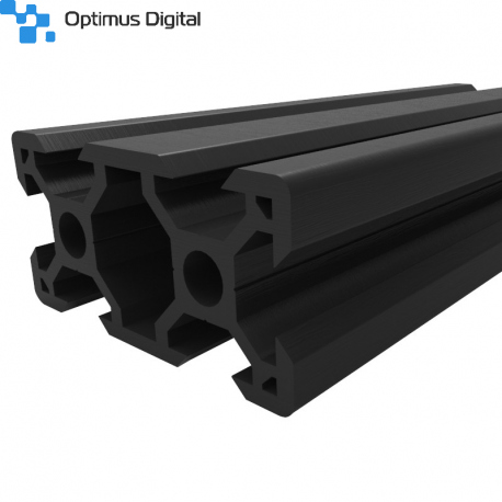 Black Aluminium V-Slot Profile 2040 (50 cm)