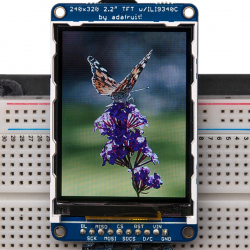 TFT 320x240 de 2.2'' LCD Diplay with MicroSD Slot