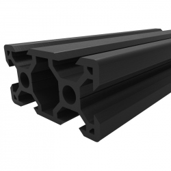 Black Aluminium V-Slot Profile 2040 (25 cm)