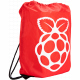 Red Raspberry Pi Drawstring Bag