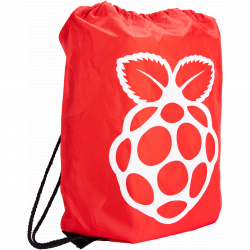 Red Raspberry Pi Drawstring Bag