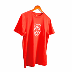 Red Raspberry Pi T-shirt Adult Size Small