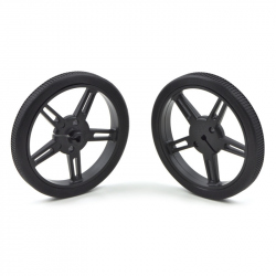 Wheel 60×8mm Pair - Black