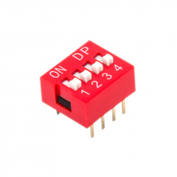 Red DIP Switch (4p)