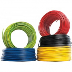 Yellow Conductive Cable H07V-U 2.5 mmp, 100 m