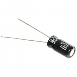 Electrolytic Capacitor 47 uF, 50 V