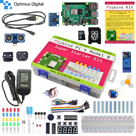 Plusivo Pi 4 Super Starter Kit with Raspberry Pi 4 with 8 GB of RAM and 16 GB sd card with NOOBs