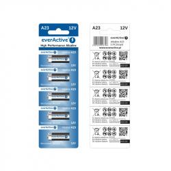 Set of 5 A23 12 V EverActive Alkaline Batteries