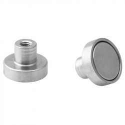 Pot magnet 16x4.5 mm with internal thread M4
