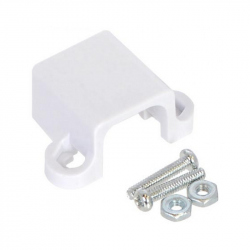 White Gearmotor Mounting Bracket with Screws