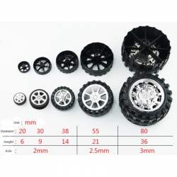 38 mm Wheel for 2 mm shaft