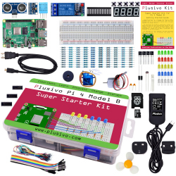 Plusivo Pi 4 Super Starter Kit with Raspberry Pi 4 with 2 GB of RAM and 32 GB sd card with NOOBs