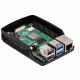 Raspberry Pi 4 Case, Black/Grey