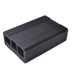 Black Metalic Case for Raspberry Pi