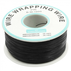 200 m Black Wire Mini Roll 0.5 External Diameter x 0.25 Internal Diameter