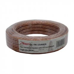Transparent Speaker Cable 2x2.5mm 10m