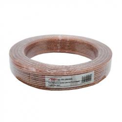 Transparent Speaker Cable 2x0.75mm 25m