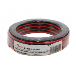 Red / Black Speaker Cable 2x2.5mm 10m