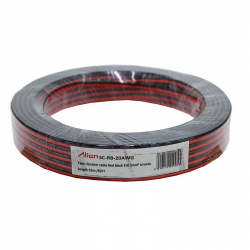 Red / Black Speaker Cable 2x0.5mm 25m